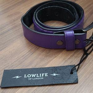 Lowlife textured purple belt